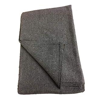 Cissbury Uk Army Issue Bedding, Barracks Soft Wool Mix Blankets (grey)