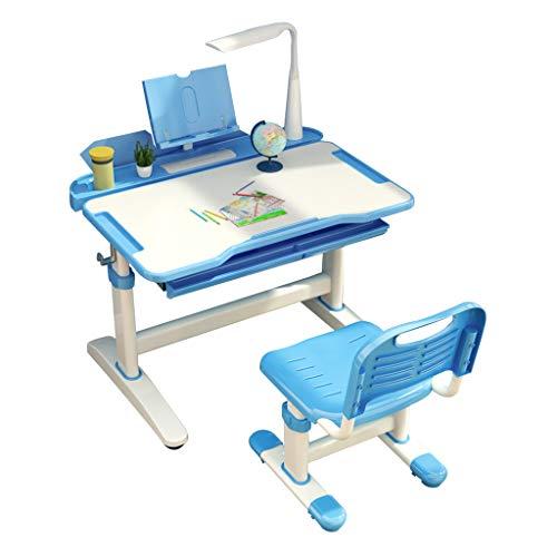 Ensembles de tables et chaises Table d'étude bureau table à domicile pour enfants bureau chaise de travail pour les devoirs étudiant peut lever table chaise planche à dessin avec protection des yeux c