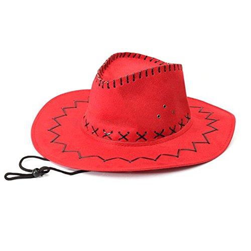 Sombrero - TOOGOO(R)Retro Unisex Sombreros accesorio del vestido de lujo de Rodeo de...
