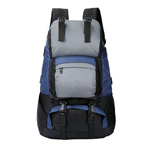 Yy.f50 Liter Outdoor-Sport Wandern Klettern Camping Rucksack Professionelle Bergsteigen Taschen Zu Fuß Einen Großen Rucksack Unterwegs. Multicolor Darkblue
