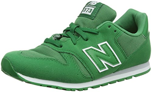New Balance Unisex Kids Kj373Y Trainers, Green (Green), 2 UK 34.5 EU