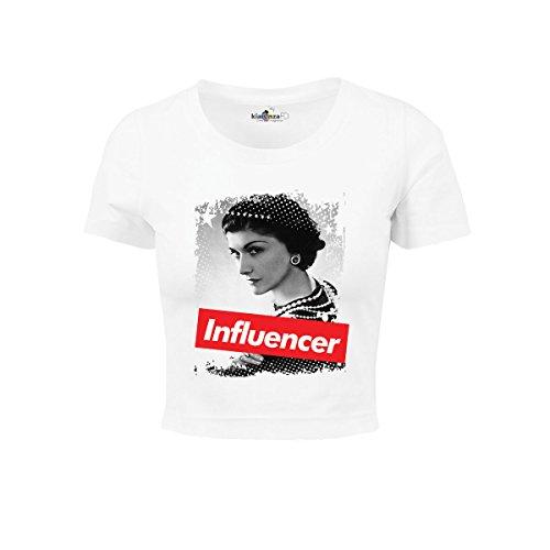 KiarenzaFD Damen Influencer Coco Stylist Chanel Star Legend Shirts, KTOD00006-XL-white, weiß, XL -