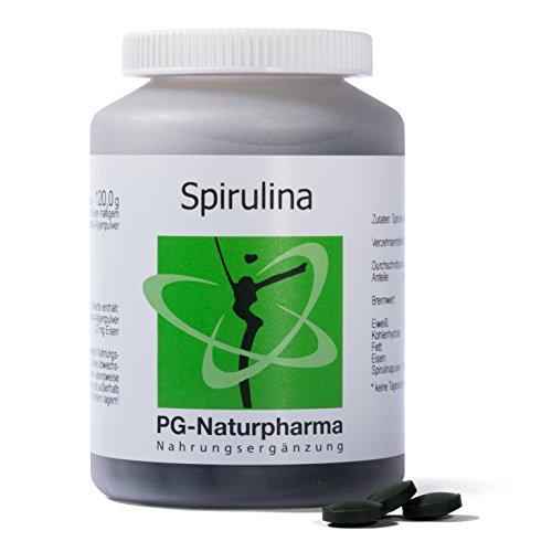Spirulina Tabletten | 300 Tabletten (Presslinge) mit je 400mg Spirulina-Algenpulver | enthält natürliche Vitamine, Mineralien und Spurenelemente - höchste Qualität und direkt vom deutschen Hersteller