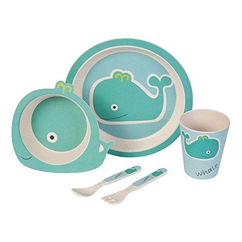 Set–couvert-Baleine-Ustensiles-en-bambou-Ustensiles-pour-enfants-rutilisables-Assiettes-Gobelets-Bol–muesli-cuillre-fourchette-rsistant-au-lave-vaisselle-sans-BPA