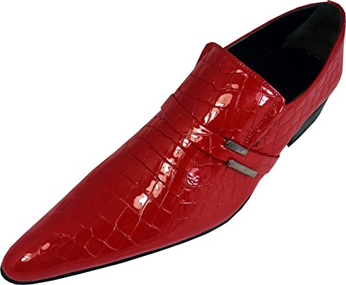 Chelsy , Mocassins pour homme Rouge - Rouge