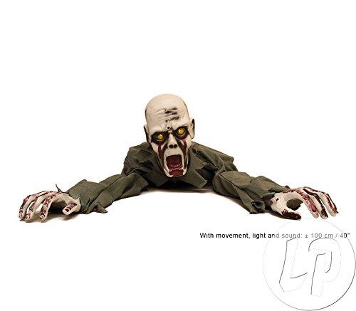 Kriechender Zombie Animiert Halloween Deko 100 cm - Horror Grusel Leiche Dekoration (Animierte Halloween Bilder)