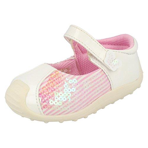 Cutie , Baby Mädchen Lauflernschuhe, Weiß - weiß - Größe: 5 Baby UK -