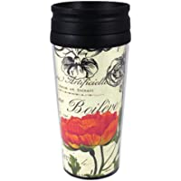 CounterArt Insulated Travel Mug, 14-Ounce, Vintage Floral by CounterArt