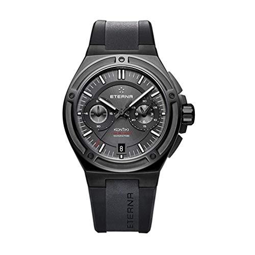 Eterna Men's Steel Bracelet Case Automatic Black Dial Watch 7755-43-40-1289