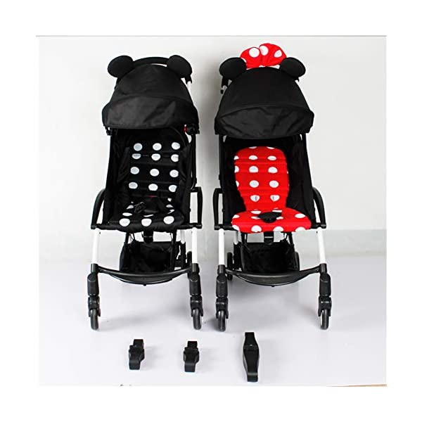 Twins Baby Stroller Connectors Accessories for YOYO Strollers 2-in-1 Dual Stroller Same Stroller  Material:PP Color:Black Weight:600g 3