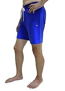 UK Yoga Shorts For Men, Blue - Size M