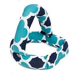 Savvy Curls Curling Hair Wrap, Convertible Blue Quatrefoil, 1.5 Ounce