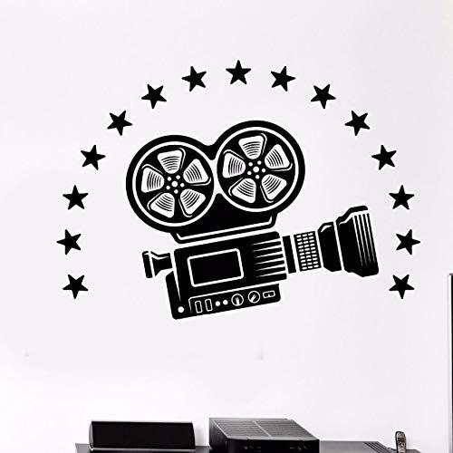 zqyjhkou Vinyl Wandtattoo Videokamera Wandkunst Wand Kino Film Raumdekoration Film Stil Vinyl Wandaufkleber Film Kamera Aufkleber Ay991 80x57 cm