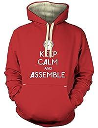Bleib ruhig und montier T-Shirt für Erwachsene Prämiekapuzenpullover für Erwachsene