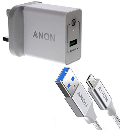 Super Fast Charger 3-Pin UK Mains Plug Adapter 3.0 for sale  Delivered anywhere in UK