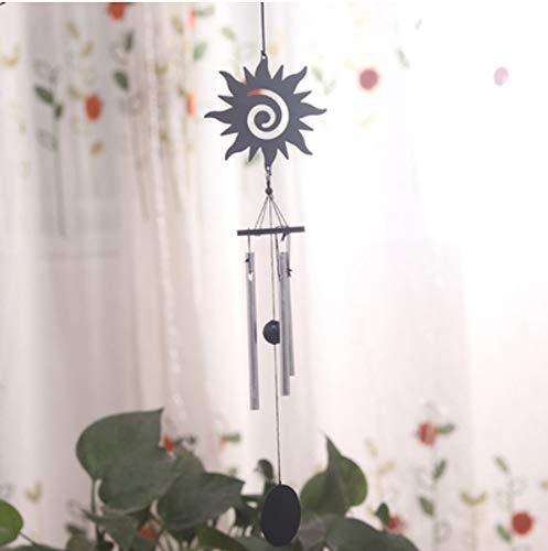 XMUMA Kleine Engel Mini Aluminium Stange Wind Glocke Hängende Tür Dekoration Kreative Balkon Kleine Frische Mädchen Schlafzimmer Dekoration Geburtstagsgeschenk - Sonne (Sonne Hängende Dekoration)