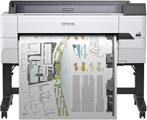 Epson SureColor SC-T5400 Tinten-Großformatdrucker (für CAD/GIS/POS, Drucke bis DIN A0+, Rollendrucke bis 36 Zoll (91,4 cm/A0+), WiFi, Ethernet) weiß