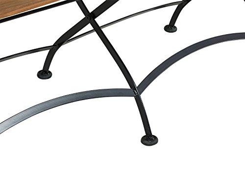 Massivum Sitzbank Seattle Akazie/Metall, schwarz / natur, 59 x 117 x 17, 10024123 - 6