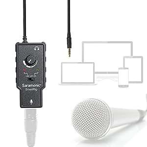 Saramonic Smartrig XLR Préamplificateur de microphone Adaptateur audio avec Phantom Power pour Iphone7 6 5 ipad ipod itouch IOS Devices