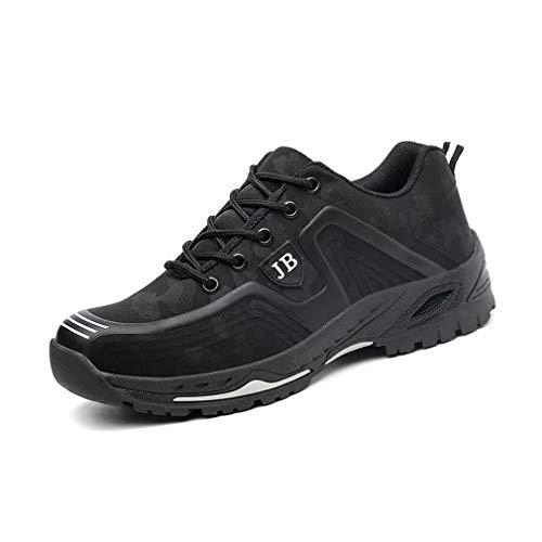 Scarpe Antinfortunistiche Uomo con Punta in Acciaio Scarpe da Lavoro Antinfortunistiche Sportive Sneaker Ultraleggeri Traspirante Nero Camo 36-45 BKWH43