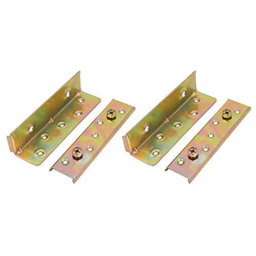 2 Sätze 6-Zoll Eisen verzinkten Bett Schrank Scharniere Wohnmöbel Hardware -
