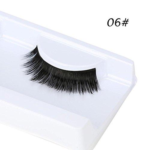 OHQ Vvhuda 1 Paire De Vison Cheveux Faux Cils Noir Les Cils Naturel 3D Beaute MagnéTique Individuel Aimanté Volumineux Mink Naturel ÉPais Faux Faux Cils Eye Lashes Extension De Maquillage (06#, Noir)
