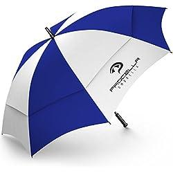 Procella Paraguas De Golf Antiviento Paraguas Grandes XXL 157 Cm Repara 2-3 Personas De Lluvia Viento Sol Profesional Ligero Resistente No Se Deforma O Rompe - Color Azul Real Y Blanco