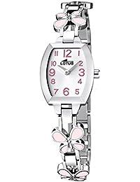 5960719fa99f Lotus Reloj Analógico para Niñas de Cuarzo con Correa en Acero Inoxidable  ...
