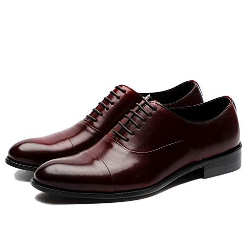 LIXIYU Zapatos Oxford de Cuero para Hombres Zapatos de vestir