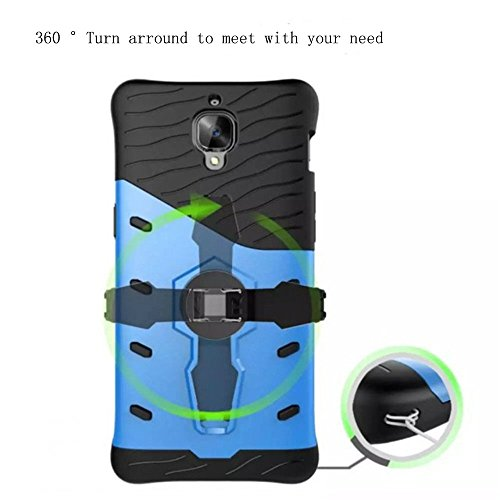 "iPhone 7/8 Case,SUNWAY 360 Degree Rotate Kick stand 2 in 1 Hybrid Dual Layer Silicone Rubber TPU + Hard PC Bumper Shockproof Anti-Impact Armor Protective Case Cover for Apple iPhone 7/8 4.7"" Blue Red"
