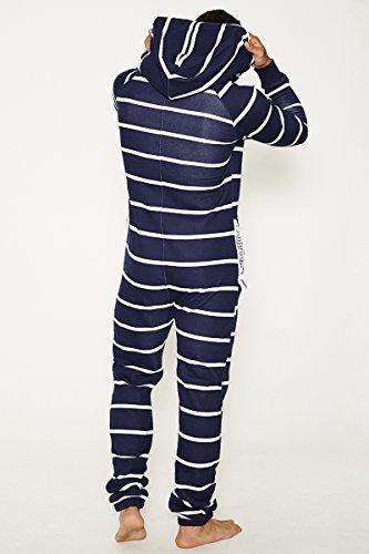 Jumpin Erwachsene Jumpsuit Original Stripe Navy, Dunkelblau Mit Weißen Streifen