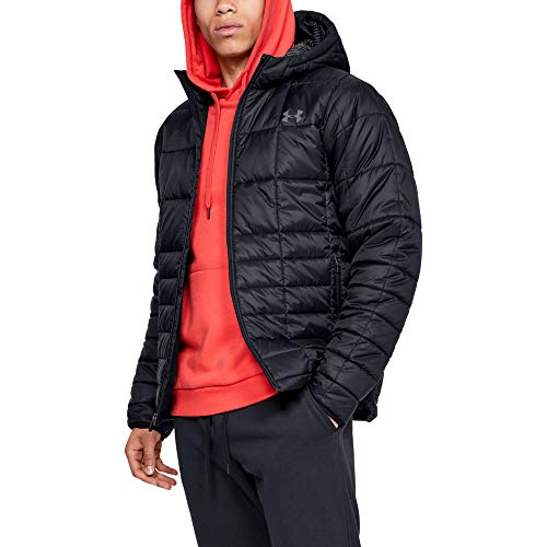Under Armour Armour Insulated Hooded Chaqueta, Hombre, Negro, MD