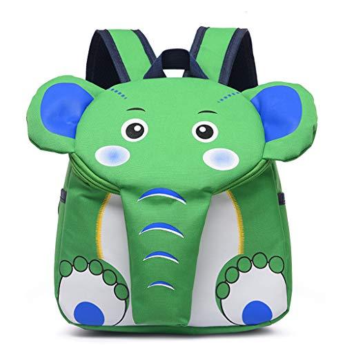 VIccoo Mochila de Elefante Mochila para Mochila de Elefante de Dibujos Animados para niños pequeños - Verde