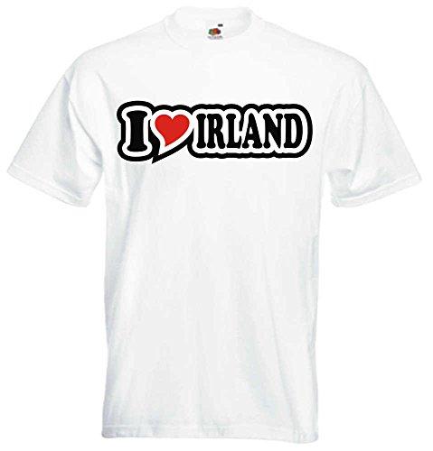 T-Shirt I Love Heart Herren I LOVE IRLAND Weiß