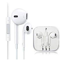 AKSHAJ Best Quality Earphone for Apple IOS Compatible Devices with Remote & Mic - White