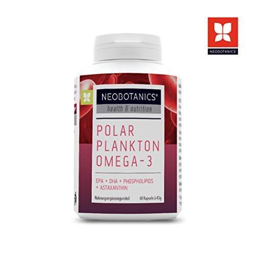 NEOBOTANICS® Premium Krillöl Kapseln - 1000mg hochdosierte Reinsubstanzen, Omega-3-6-9 EPA+DHA Fettsäuren, Phospholipide + Astaxanthin, Choline, Vitamin A + E - Maximale Verträglichkeit - MSC