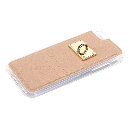 Wkae Case Cover PU-Paste-Haut-TPU-Schutzhülle mit Fox-Anhänger für iPhone 6 &6s ( Color : Gold ) Gold