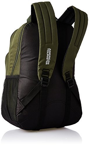 American Tourister 27 Ltrs Olive Casual Backpack (AMT Stratos BP-04 Olive/Yellow)