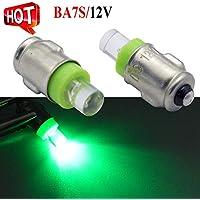 2 bombillas BA7S para salpicadero F3 1 LED 12 V CC 50 lm, luz verde