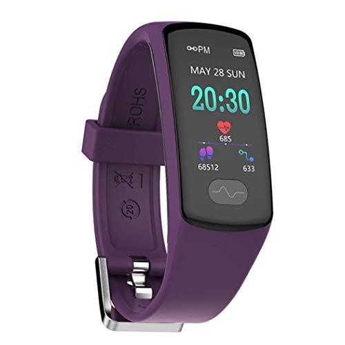 RHBKW Fitness Tracker IP67 Wasserdicht Sport,Touchscreen-Smartwatch mit Herzfrequenz Schlaf Monitor Fitness Uhr mit Schrittzähler Kompatibel mit Android iOS zum Laufen,Purple
