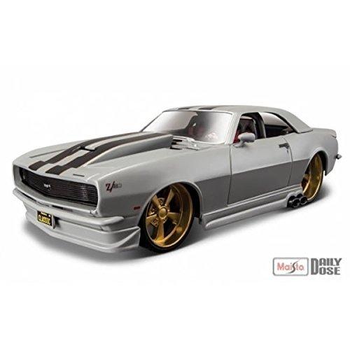 maisto-coche-de-juguete-design-classic-muscle-1968-chevrolet-camaro-z-28-escala-1-24-color-gris-3250