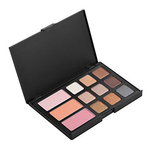 12 Couleurs Blush Fard à Paupières Brosse Palette Maquillage Beauté Kit Ensemble