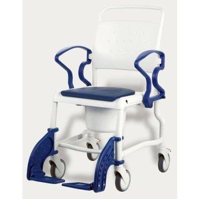 "Toiletten-Rollstuhl BONN 5\"" Räder, blau, Toilettenhilfen"