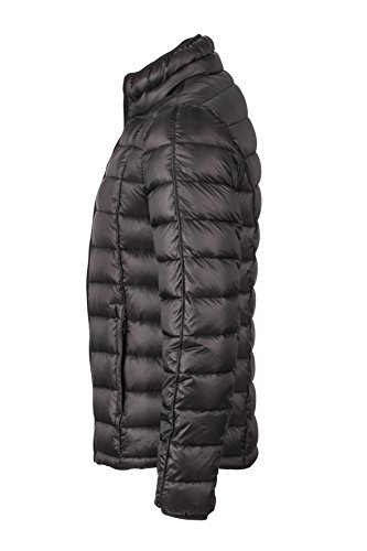 James & Nicholson Herren Jacke Daunenjacke Men's Quilted Down Jacket Black