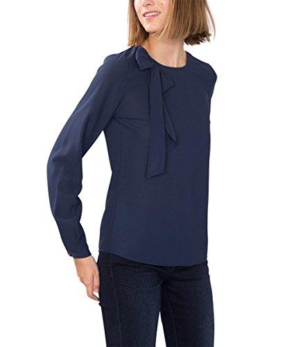 ESPRIT 096EE1F027, Camicia Donna, Blu (NAVY), 42
