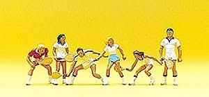 Preiser 1/87 ème - PR10078 - Modélisme Ferroviaire - Joueurs de Tennis