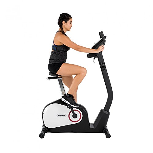 Spirit Upright Bike DBU 20 – Heimtrainer, Fitness Indoor Bike, Ergometer mit Hand-Puls-Sensoren - 2