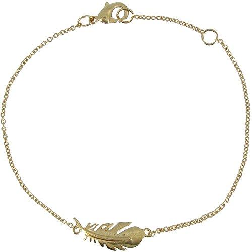 Schmuck Les Poulettes Vergoldet Armband Vogelfeder