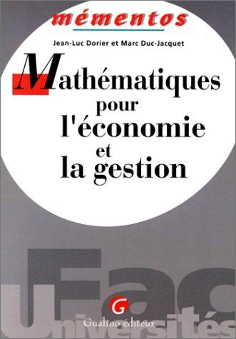 Mathématiques pour l'économie et l...
