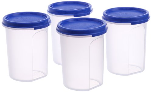 Tupperware MM Round Container Set, 440ml, Set of 4  available at amazon for Rs.510